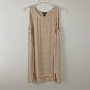 Eileen Fisher Georgette Crepe Tunic In Plaid PM
